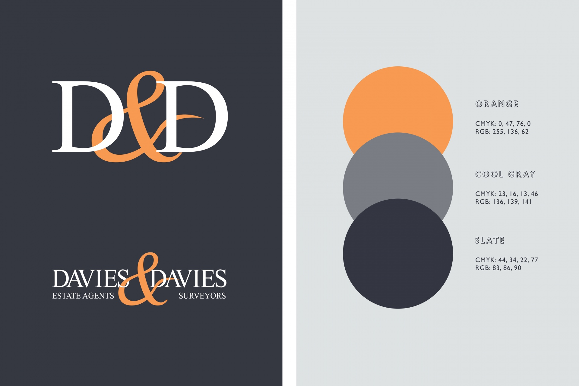 Davies Davies Estate Agents Branding, brand identity, brand design, graphic design, estate agents, london, england,