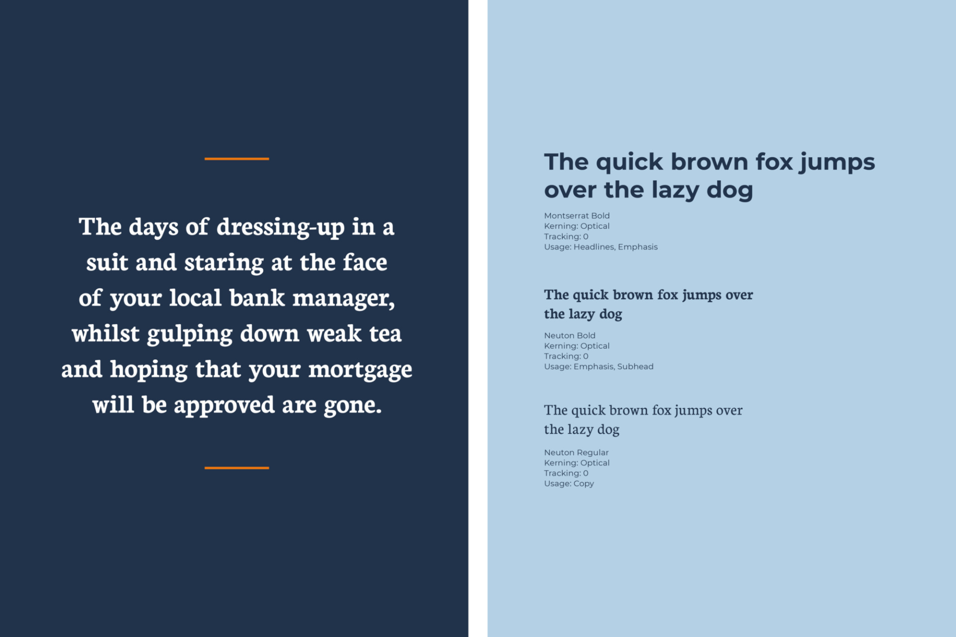 Example of typeface for Heron Financial, Mortgage and Insurance Brokers brand identity. Graphic design by Barefaced Studios, design agency based in Islington, North London.
